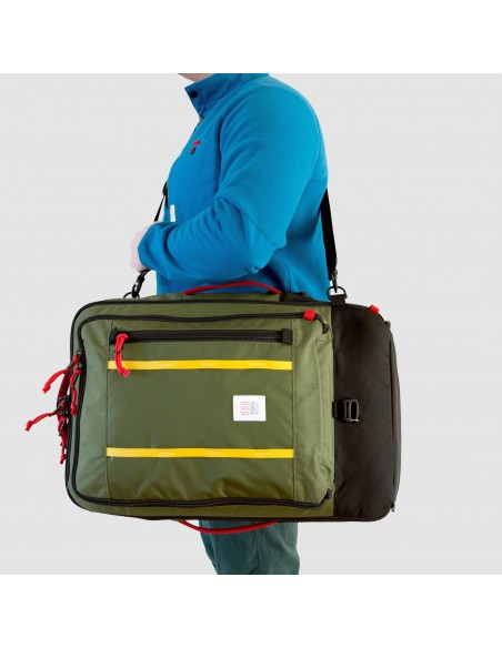 Topo Designs Travel Bag 40L Olive Onbody Front