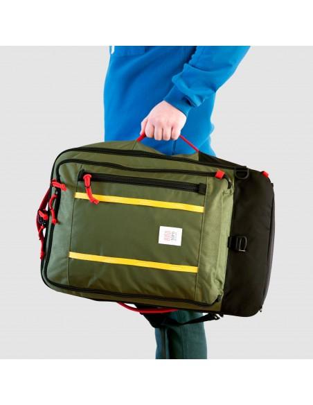 Topo Designs Travel Bag 40L Olive Onbody Front 2