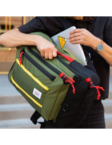 Topo Designs Travel Bag 40L Olive Onbody Lifestyle 3