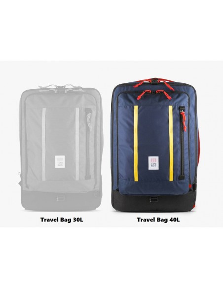 Topo Designs Travel Bag 40L Navy Onbody Front