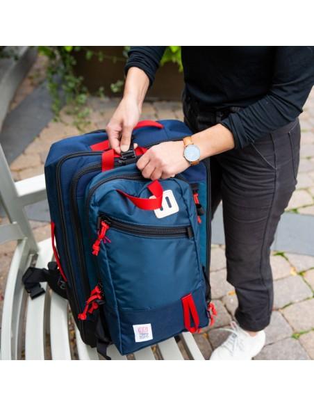Topo Designs Travel Bag 40L Navy Onbody Lifestyle 4