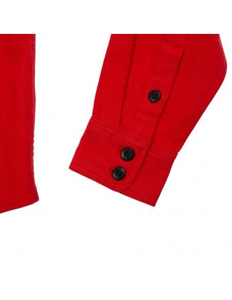 Topo Designs Dámska Kvalitná Horská Košeľa Červená Offbody Detaily