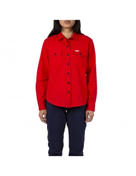 Topo Designs Dámska Kvalitná Horská Košeľa Červená Onbody Spresu
