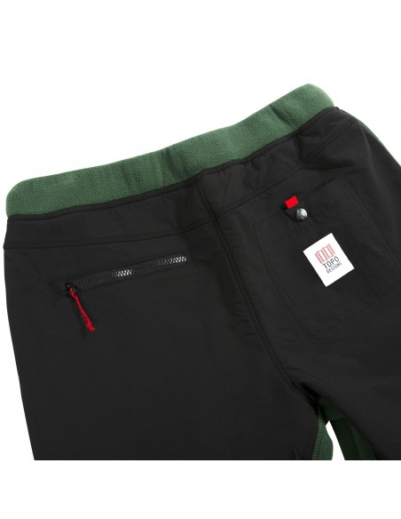 Topo Designs Mens Fleece Pants Forest Black Offbody Detail 3