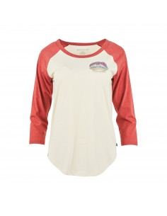 United by Blue Womens Adventure Awaits Baseball Tee Antique White Front