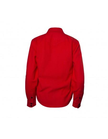 Topo Designs Dámska Kvalitná Horská Košeľa Červená Offbody Zozadu
