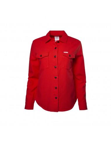 Topo Designs Dámska Košeľa Mountain Solid Červená Offbody Spredu