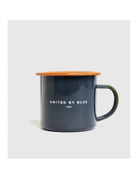 United by Blue Smaltovaný Oceľový Hrnček So Sviečkou Morning Dip 12 oz Spredu Zozadu