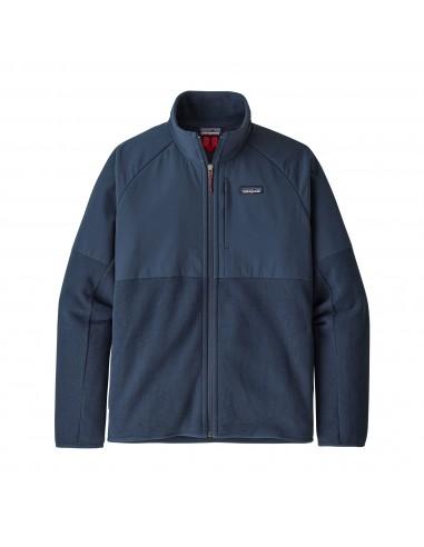Patagonia Mens Lightweight Better Sweater Shelled Fleece Jacket New Navy Offbody Front