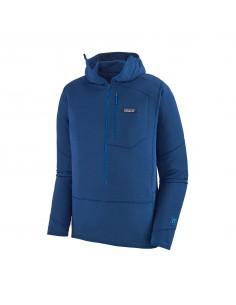 Patagonia Pánsky Pulóver S Kapucňou R1 Superior Modrá Offbody Spredu