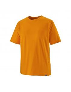 Patagonia Pánske Tričko Capilene Cool Daily Mango Oranžová X-Dye Offbody Spredu