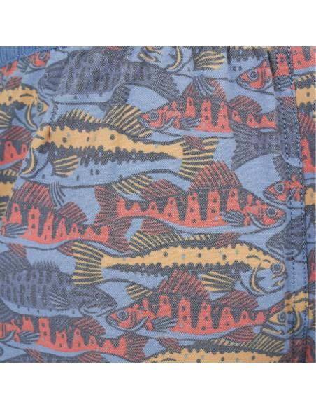 United by Blue Dámske Organické Šortky Short Kamenná Modrá Detail
