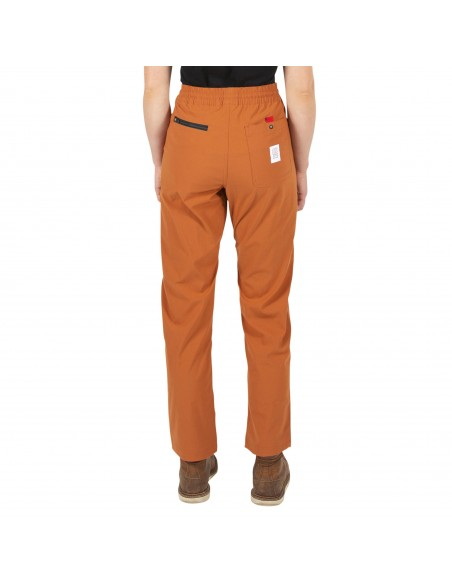 Topo Designs Womans Boulder Pants Orange Onbody Back