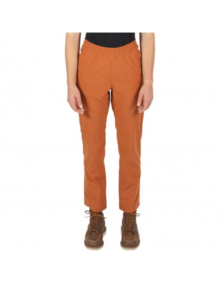 Topo Designs Womans Boulder Pants Orange Onbody Front
