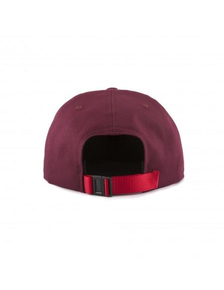 Topo Designs Šiltovka Mini Map Hat Vínová Červená Offbody Zozadu