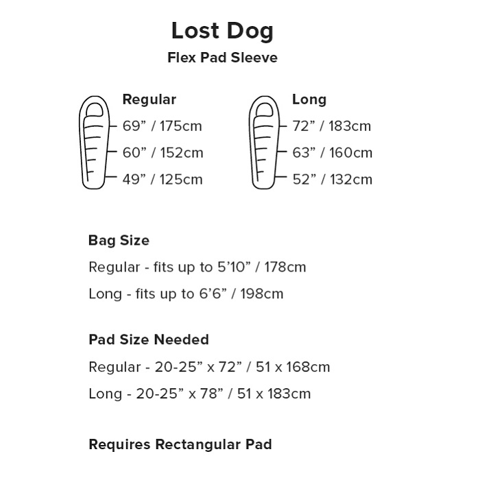 Big Agnes Lost Dog Sleeping Bag Sizing